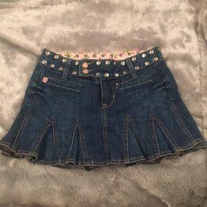 Betsey Johnson denim mini skirt